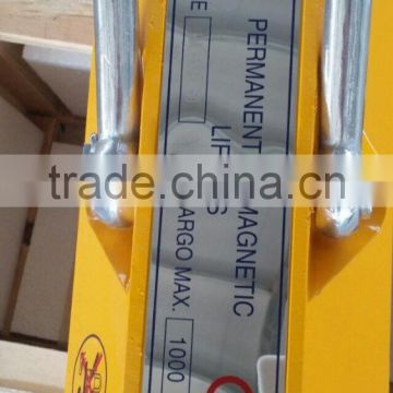 2000kg Portable Permanent Magnetic Lifter for lifting steel plate