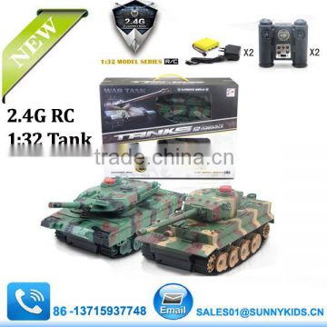 2014 NEW RC Tank 2.4GHZ 12Channel Battle Rc Tank With Sound 1:32 Tank