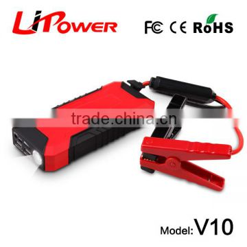 Car emergency power supply 12v multi-function jump starter portable car jump starter power bank with 600a peak current