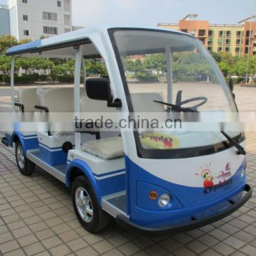 Top quality hot sale 11 person electric sightseeing shuttle bus