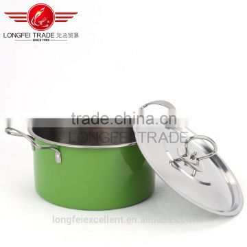 2016 3pcs Stainless steel color steel handle high pot set