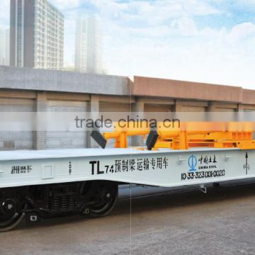 Special flat wagon for prefabricated bridge