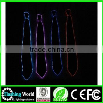 whoelsale in many styles light up el wire tie