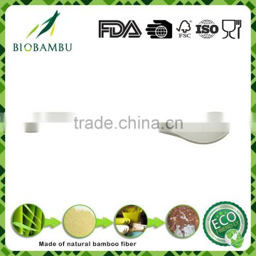 No pollution customized environmental bamboo fiber spoon/ cutlery