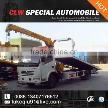 dongfeng 4x2 wrecker truck with arm crane for sale