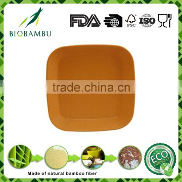 Small square bio-degradable bamboo fiber catering serving dishes