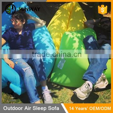 Foldable Outdoor Waterproof Nylon Sleeping Bag Hangout Sofa