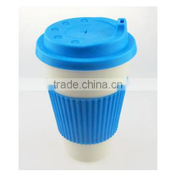 2016 Natural cheap degradable bamboo fiber coffee cup