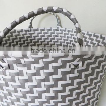 PP plastic type and food use woven plastic laundry basket for sale