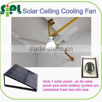 vent goods 30 watt three blade solar ceiling fan Mount Indoor/Outdoor Ceiling Fan with Light Kit and Remote