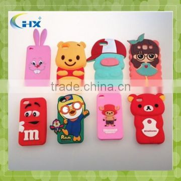 Factory price animal shape 3d cartoon silicone phone case