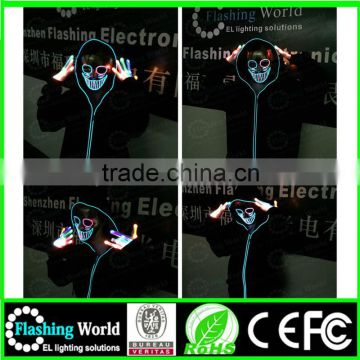 factory wholesale usa flashing merry christmas custom new design fasion party eye mask