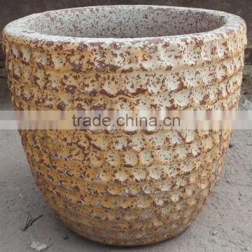 Viet Nam Pottery Ocean Style Collection of Sandblast Old Atlantic Planters
