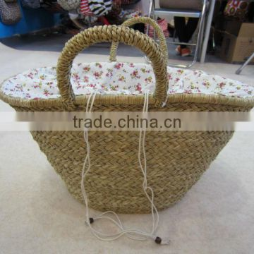 natural seagrass handmade bag