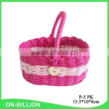 Cheap wholesale handmade paper rope woven easter gift basket
