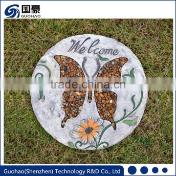 Charming adornment for entry paths butterfly garden stepping