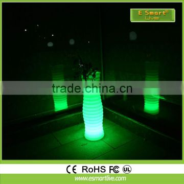 PE material home decoration illuminated rechargeable led flower vase light / outdoor led pot light / led flower pot.