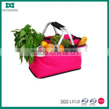 Wholesale Portable Oxford Fabric Folding Empty Picnic Baskets