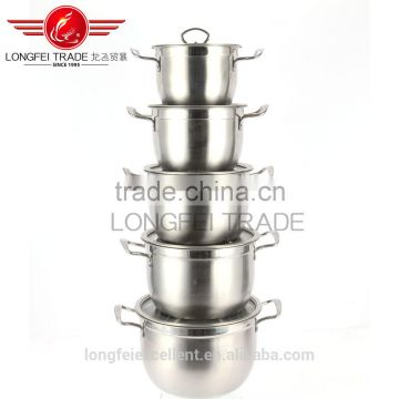 high quality stainless steel handle different size hot sale stainless steel cookware