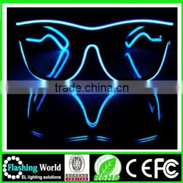 hot selling High brightness el wire led glasses