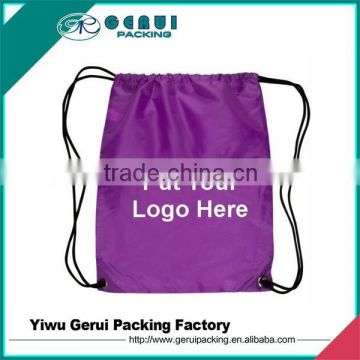 Polyester Material and drawstring style bag,custom polyester drawstring bag
