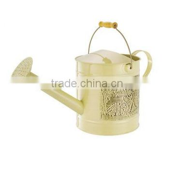 Garden Pattern-Printed Watering Can Cream