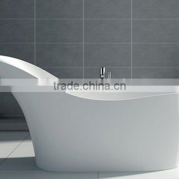 Exceptional ... Modern Double Apron Bathtub, Resin Terrazzo Round Bathtub,freestanding  Solid Surface Bathtub ...