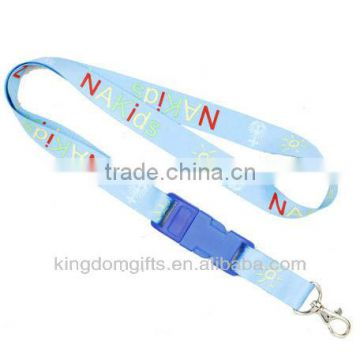 Letter Printed Cell Phone Polyester Lanyard with buckle