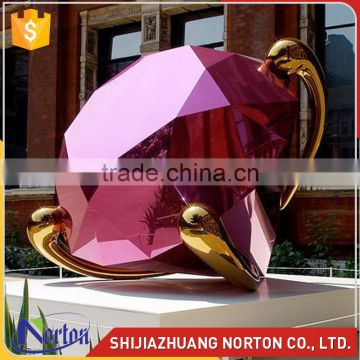 wedding decoration large diamond stainless steel outdoor sculpture NTS-608X
