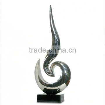 Large modern landscape stainless steel sculpture