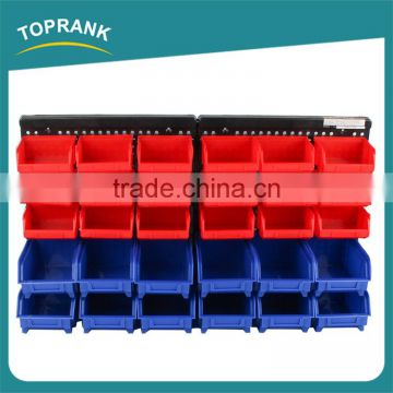 High quality adjustable mini plastic screw storage box with hanging plate