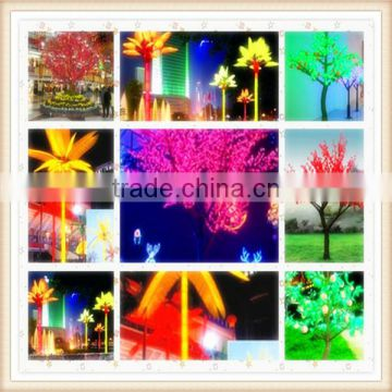 SJM0912187 Good-quality garden supplies large plastic artificial plants LED plants with silk blossom flower