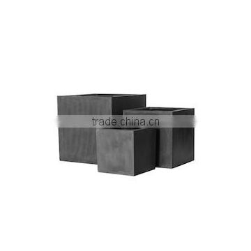 Cube polystone, fiberstone planter with durable pots