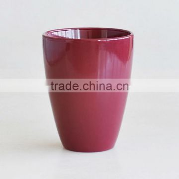 U shape flower pot with solid color