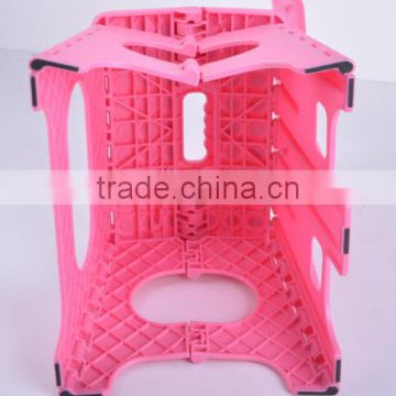 PP plastic folding stool with backside