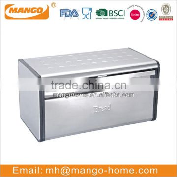 Hot Sales Stainless Steel Bread Bin With Window