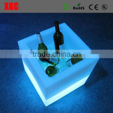 Waterproof plastic led wireless color changing ice wine bucket wholesale
