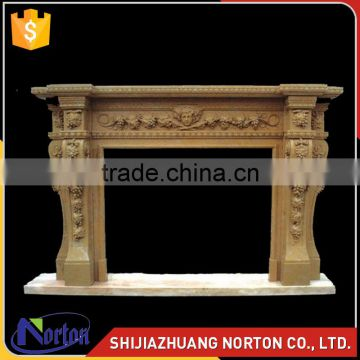 hot sale antique greek style fireplace sandstone NTMF-F527X