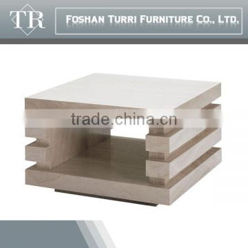 Classic White Gloss Travertine TV Stand For Living Room