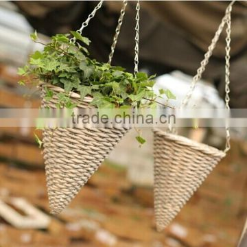Wholesale cheap rustic willow hanging baskets