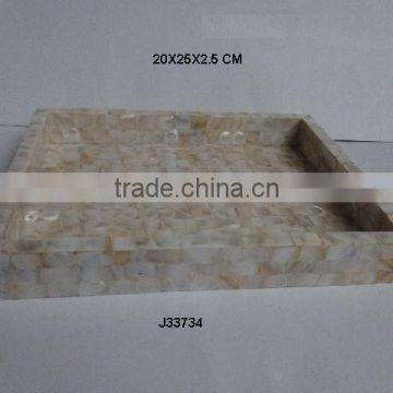 Mother of pearl Rectangular Tray colours size can be customized