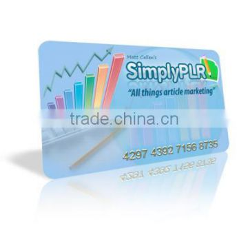 Print Plastic PVC Shop Membership Card