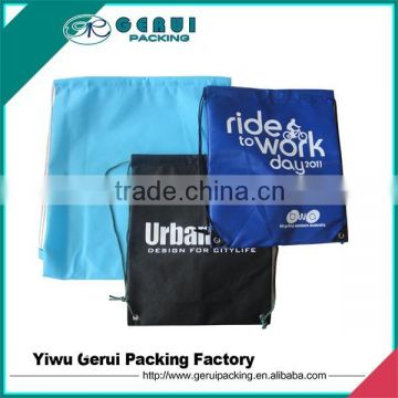 Nice quality silkscreen printed 210D polyester fitness backpack