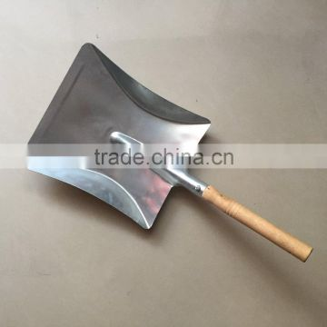 Galvanised Dustpan with Wooden Handle