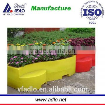china rotomolded big size L1460 mm x H500mm xW670mm lldpe plastic flower pot