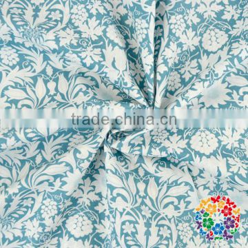 White Blue Green cotton fabric 100% cotton Fabric Dress cotton Fabric
