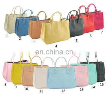 Korea Style Fashion Women PU Zipper Ladies Handbag