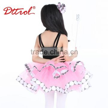 One piece girls party dresses kids beautiful model dresses latin belly dance costume tutu dress D08003 2016
