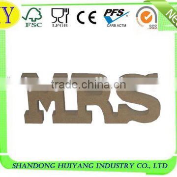 custom natural MDF letter wholesale