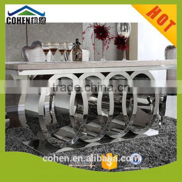 Wholesale Audi Symbol Base dining table and chair set for luxury dining room furniture